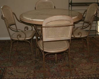 Drexel Heritage Blonde Dining Table and 4 Chais