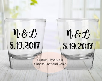 SALE! Buy 10 Get 2 Free | Wedding Favors | Wedding Party Gifts | Wedding Shot Glass | Wedding Gifts | Personalized Shot Glass | Custom Glass