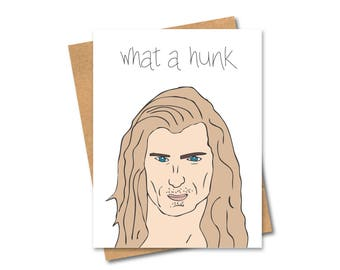 Fabio - What a Hunk card - Funny Boyfriend card