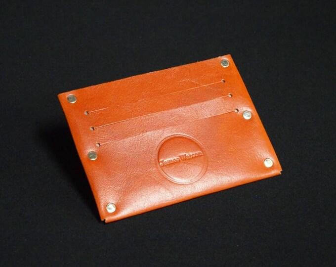 Single 6 Wallet - Saddle Tan - Kangaroo leather with RFID credit card blocking - Handmade - Mens/Womens - James Watson