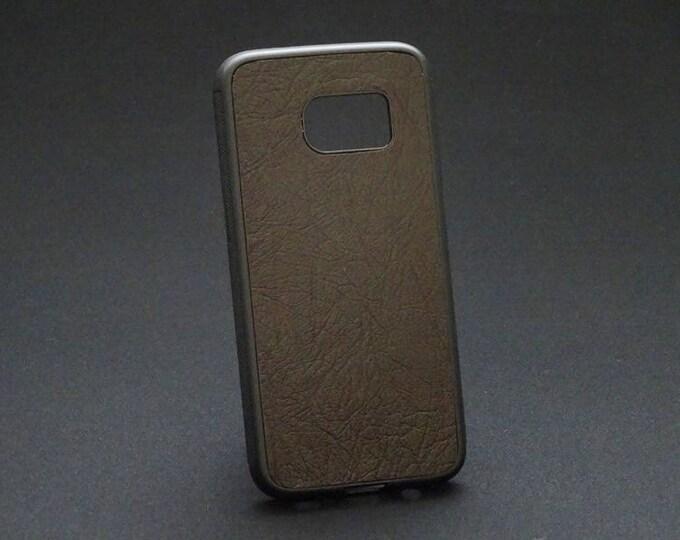 Samsung Galaxy S7 - Jimmy Case in Rich Brown Texture - Kangaroo leather - Handmade - James Watson
