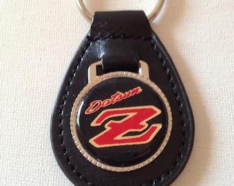 Datsun Z Keychain Black Leather Key Chain