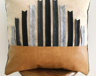 Modern Tribal Colorblock Throw Pillow Cover
