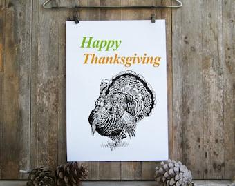 Thanksgiving decor, Wild turkey clipart, Thanksgiving gift, Printable Thanksgiving decor, Happy thanksgiving, Turkey print, Free gift
