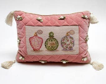 Dusty Rose Pillow Etsy