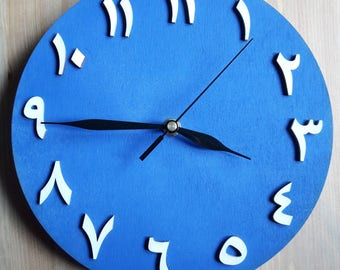 Clock arabic style (wooden) - different colors