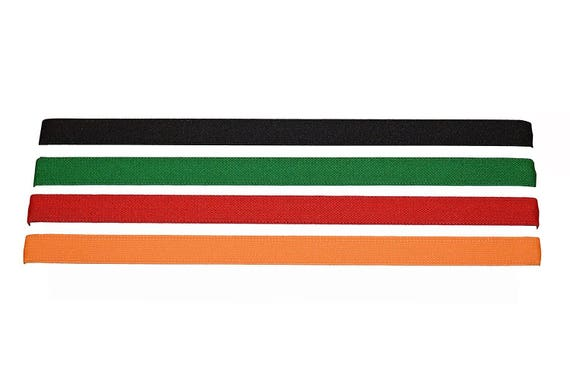 Headbands Orange Red Green Black No slip 1/2 Inch Sports Headband With Silicone