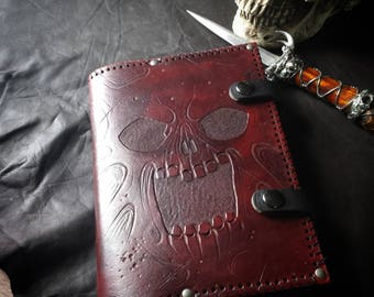 BOOK of the DEAD -leather book cover