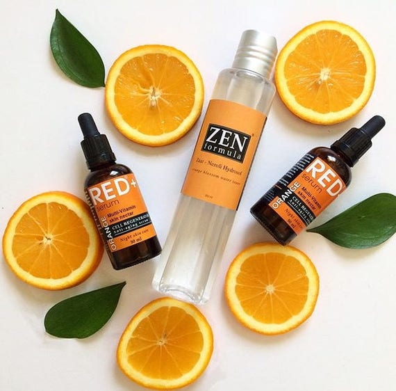 SALE Neroli Hydrosol facial toner / Orange Blossom /  Organic Floral Water / 100% Natural Hydrolat skin toner for dry and sensitive skin