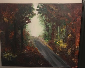 Warm autumn painting
