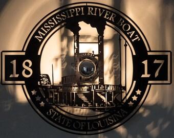 Design lamp applique Panel vintage Mississippi Louisiana