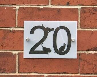 House number personalised  Door Number, House Name, Door Plaque, House Plaque