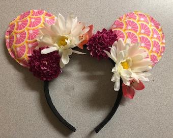 Pink Lemonade Flower Disney Ears