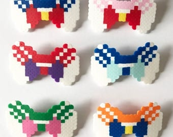 Sailor Moon Bow Hairclips: Sailor Moon, Sailor Mercury, Sailor Mars, Sailor Jupiter, Sailor Venus, Sailor ChibiMoon