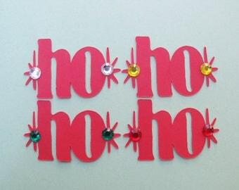 Christmas Die Cuts - Card Making - Paper Die Cuts - Paper Embellishments - Holiday Die Cuts - Package of 24