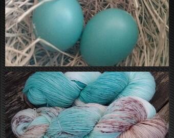 Squishy Sock Yarn, Hand DyedYarn, 8 plyMerino, Nylon SW, 430 yards x 2 shawl set