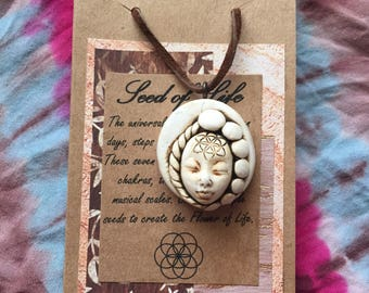 Sacred geometry seed of life necklace