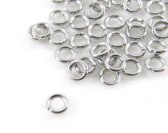 50pcs, 3mm Stainless Steel Jump Rings, 22ga, Stainless Jump Rings, Stainless Steel Jumprings Open Round Jump Rings Connectors, Chainmaille