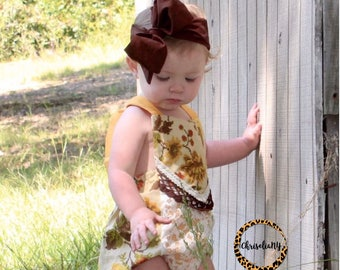 CHOCOLATE Headwrap, Fabric Headwrap, Baby Headwrap, Toddler Headwrap, Bow Headwrap, Newborn Headwrap, Turban headwrap; brown headwrap