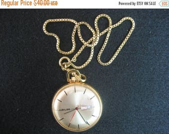 ON SALE Jubilee Pocket Watch, Works  Very Good Condition.