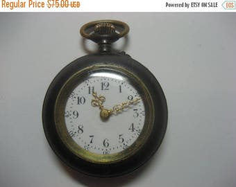 ON SALE Antique Pocket Watch, there is a mark on the case (see pictures) Watch works