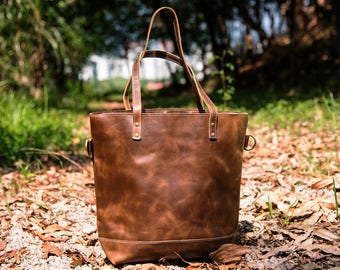 Large leather tote bag,Real Leather Diaper Bag.Real Leather Tote.Leather Bag,Leather Totes,Brown Leather bag vintage,leather crossbody  bag