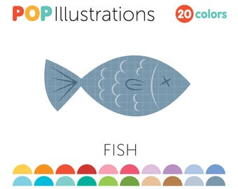 Fish Clipart for Commercial Use / Animal Clip Art / Food Graphics - A0039