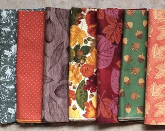 Fall, Thanksgiving Cloth Napkins, Assorted Set of 12