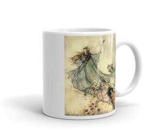 Arthur Rackham Vintage Fairy Art Mug, Coffee Mug, Vintage Illustration