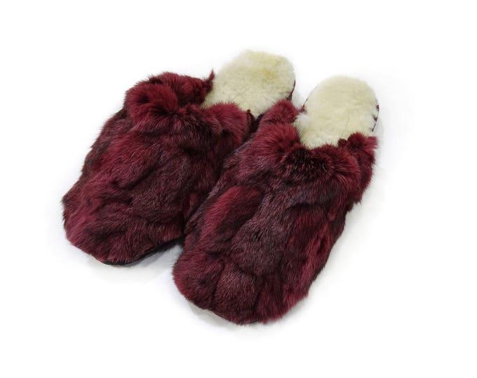 Rabbit Fur Slippers,Fur Slippers F799