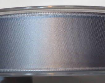 Double faced luxury 25 mm, light grey satin ribbon