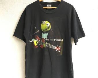 Vtg Kermit The Frog Unpigged T-Shirt Size XL