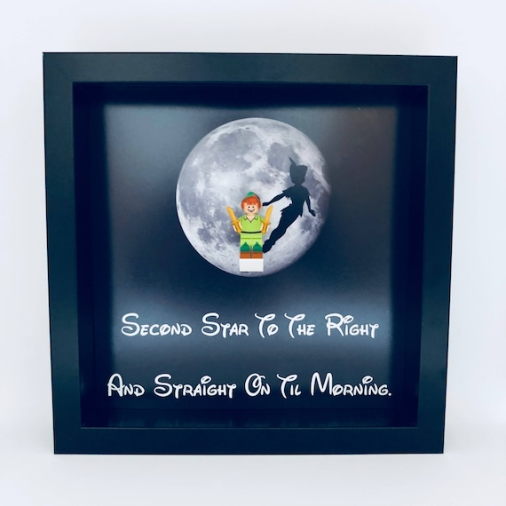 "Peter Pan ""Second Star To The Right"" Minifigure Frame"