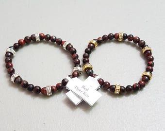 Red Tiger Eye Sparkle Bracelet