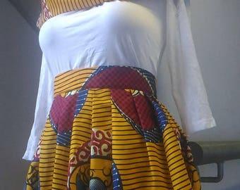 Skirt fabric African wax fabric