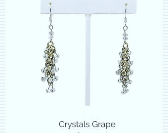 Earrings Chrystal grape