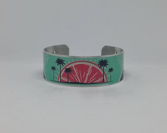 Tropical Sunset Cuff Bracelet
