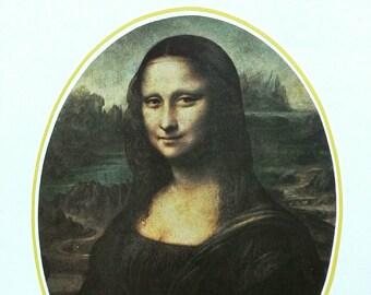Mona Lisa by Leonardo Da Vinci classical vintage print Renaissance artwork wall art traditional italian home decor