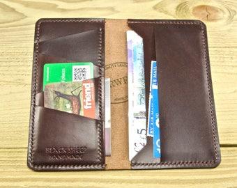 Horween Leather Long Wallet, Long Wallet, Jacket Wallet, Leather Wallet, Wallet, Handmade Leather Wallet, Wallet, Card Wallet