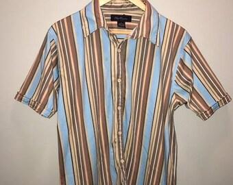 Vintage Stripe Shirt / size small / by Oleg Cassini