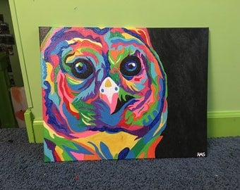 Colorful Owl Painting