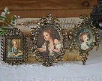 Vintage Victorian  Frames - Three ornate frames - Made in Italy