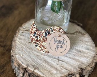 50 Bird Shaped Bird Seed Favors - Wedding -- Babyshower