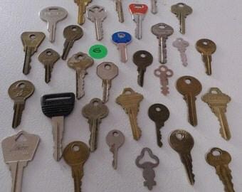 Brass and steel keys
