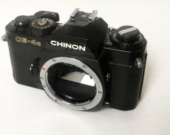 Chinon CE-4s with New Light Seals. Ready-To-Use Vintage 1980s SLR Camera Body with Pentax K-Mount and Limited Function
