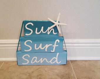 Sun Surf Sand Block Sign