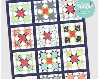 STAR BRIGHT - Quilt Pattern by Camille Roskelley for Thimble Blossoms TB 212