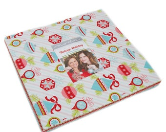 """VINTAGE HOLIDAY -  by Bonnie & Camille for Moda Fabrics - Layer Cake - (42) 10"""" x 10"""" Squares- 55160LC"""