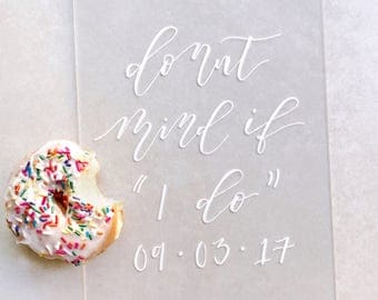 Acrylic wedding sign, donut sign, donut bar, donut table sign, acrylic dessert sign, acrylic signage, dessert table sign
