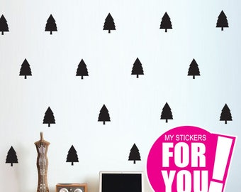 Kids Wall Decoration, Tree Wall Decal, Pine Tree Wall Stickers, Home Decor, Part 71